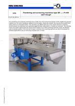 Powdering and screening machines type SR ../..-P with swirl trough