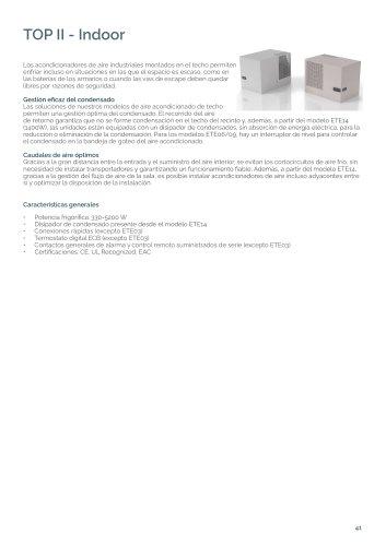 TOP II - Acondicionadores de aire para techo
