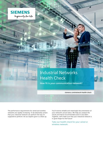 Professional Services for Industrial Networks