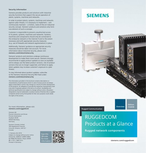 RUGGEDCOM Products At A Glance