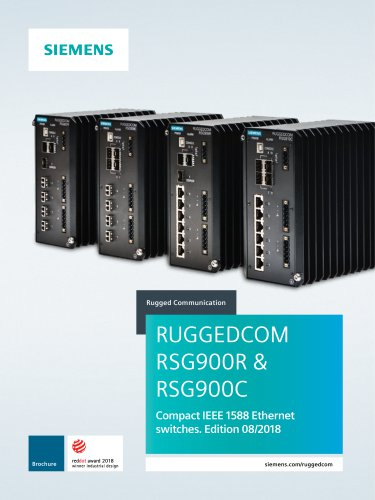 RUGGEDCOM RSG900C and RSG900R Compact Switches