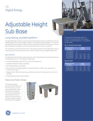 Adjustable Height Sub Base