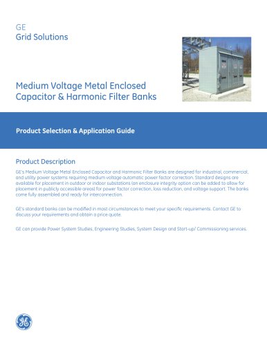 Medium Voltage Metal Enclosed Capacitor & Harmonic Filter Banks