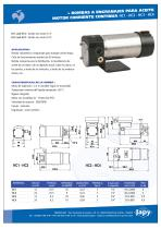 Bombas a engranajes para aceite, motor corriente continuo: HC1 HC2 HC3 HC4
