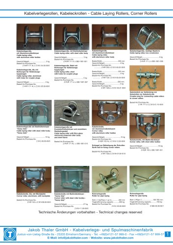 Thaler - Cable laying accessories
