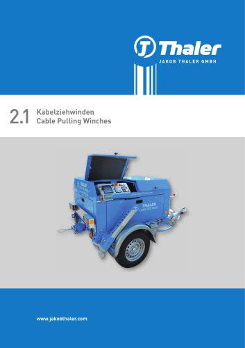 Thaler - Cable pulling winches