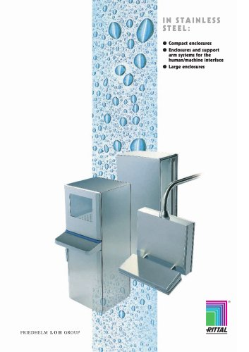 In Stainless Steel - Compact Enclosures, enclosures and support arm systems for the human/machine interface.