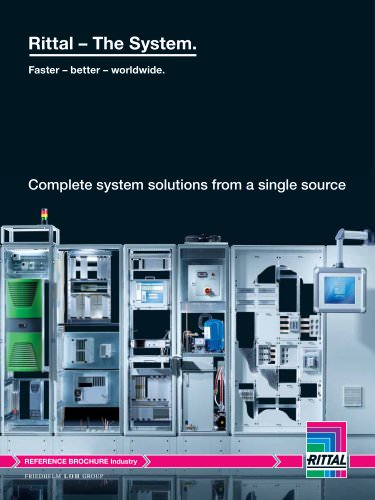 Reference brochure for industrial enclosure