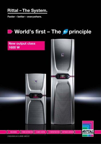 Rittal World's first - The Blue e+ principle