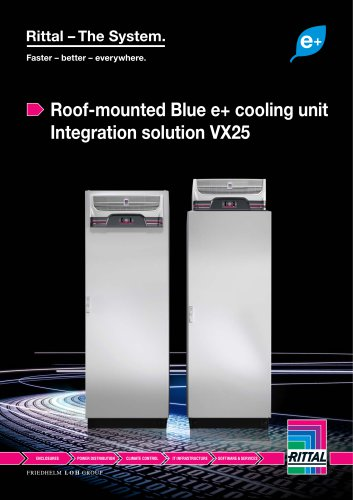 Roof-mounted Blue e+ cooling unit Integration solution VX25