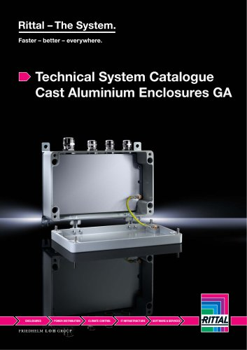 Technical System Catalogue Cast Aluminium Enclosures GA