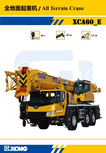 New XCMG All Terrain Crane 60 ton small hydraulic mobile crane  XCA60_E (Euro stage IV)