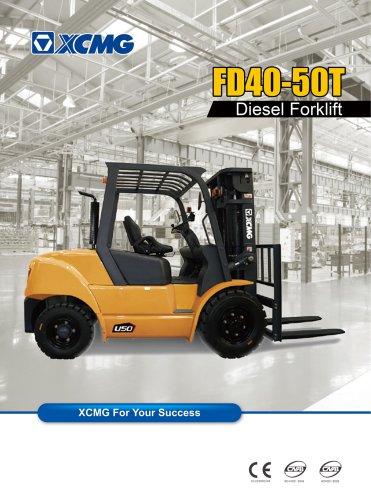 XCMG 4 ton diesel forklift truck FD40T