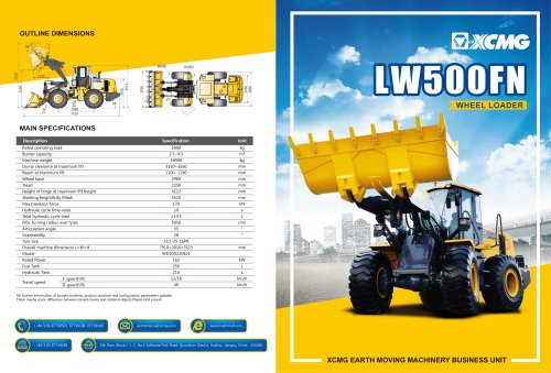 XCMG 5Ton Wheel Loader LW500FN