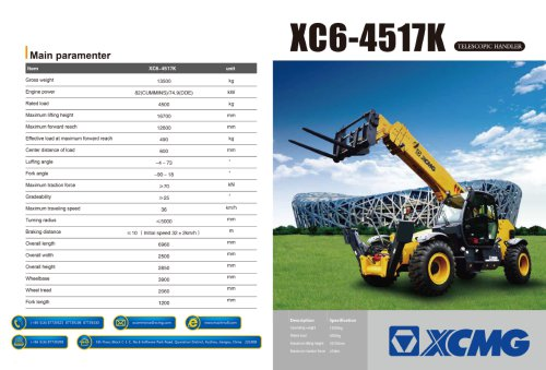 XCMG  Telescopic handler XC6-4517k construction