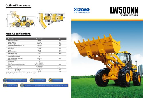 XCMG  Wheel loader LW500KN construction