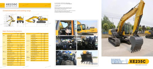 XCMG XE235C 23 ton Crawler Excavator.