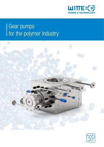 Gear pump portfolio for polymer production and processing.