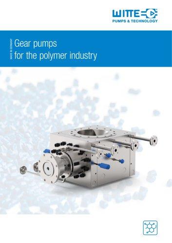 Portfolio melt pumps for pressure increasing at polymer processing