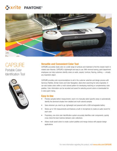 CAPSURE  Portable Color Identification Tool