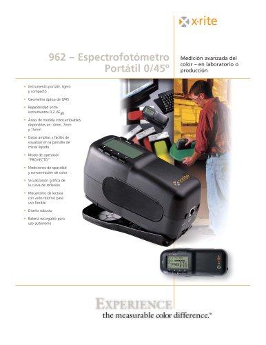 Espectrofotómetro portátil 0º/45º 962