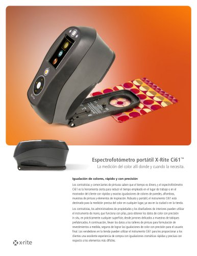 Espectrofotómetro portátil X-Rite Ci61™