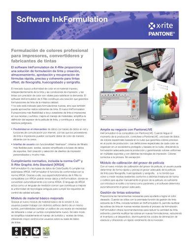 InkFormulation 6 Software