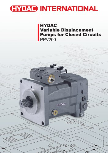 HYDACVariable Displacement Pumps for Closed CircuitsPPV200