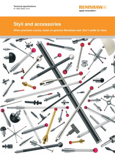 Styli and accessories - technical specifications guide