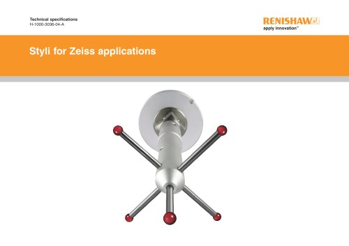 Styli for Zeiss applications