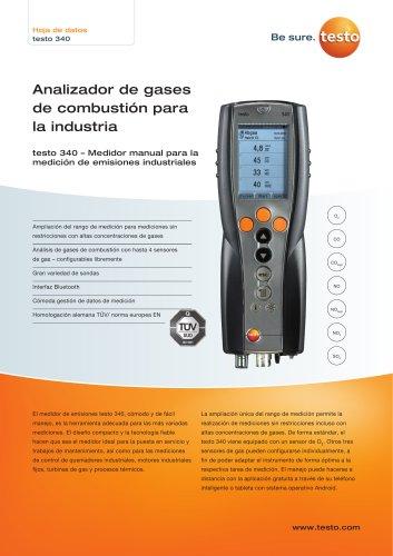 Analizador de gases  de combustión para  la industria testo 340