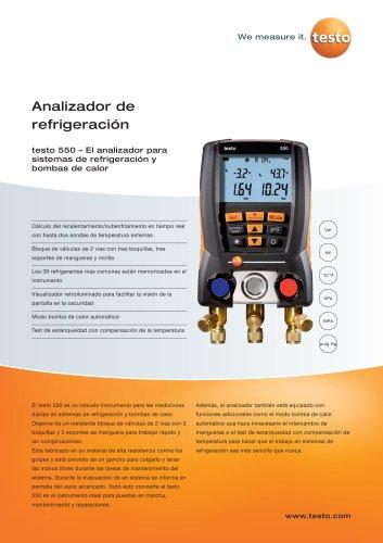 Analizador de refrigeración - testo 550