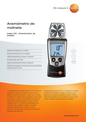 Anemómetro de molinete - testo 410