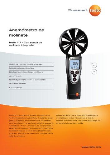 Anemómetro de molinete - testo 417