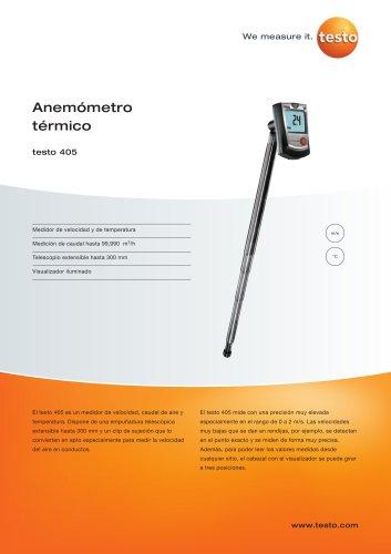 Anemómetro térmico - testo 405