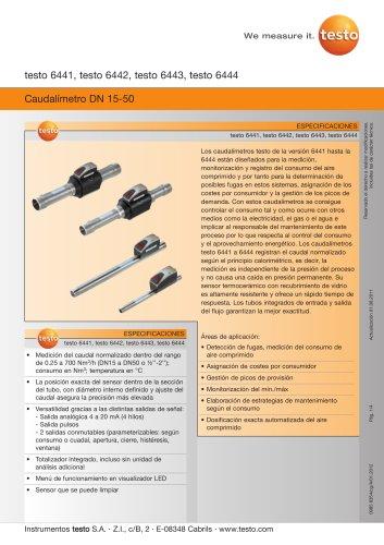 Caudalímetro DN 15-50