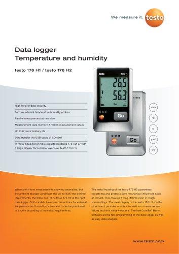 Data logger Humidity - testo 176 H1 / testo 176 H2