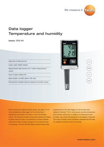 Data logger Temperature and humidity - testo 175 H1