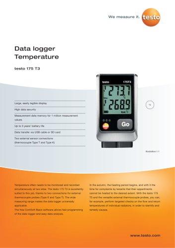 Data logger Temperature - testo 175 T3