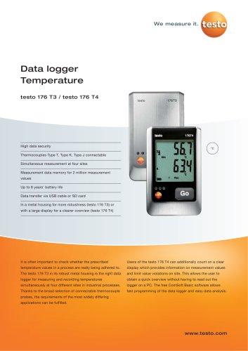 Data logger Temperature - testo 176 T3 / testo 176 T4