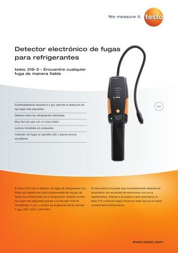 Detector electrónico de fugas para refrigerantes - testo 316-3