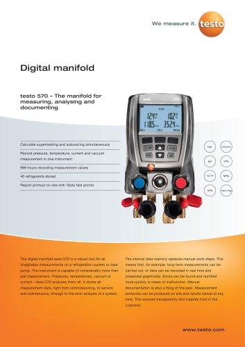 Digital manifold -  testo 570