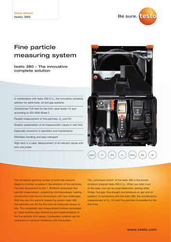 Fine particle  measuring system