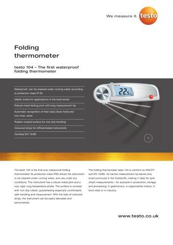 Folding thermometer - testo 104