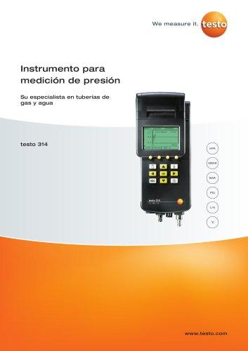 Instrumento para medición de presión - Su especialista en tuberías de gas y agua - test0 314