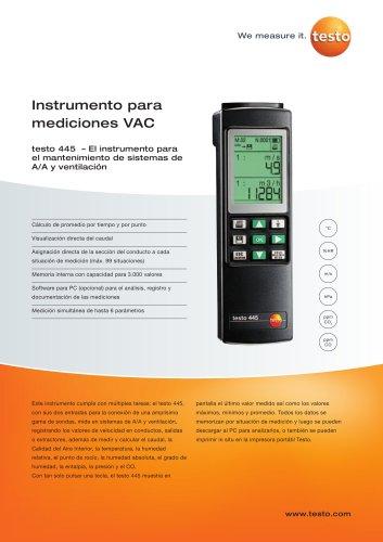 Instrumento para mediciones VAC - testo 445