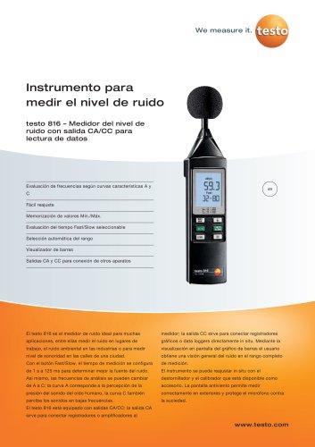 Instrumento para medir el nivel de ruido - testo 816