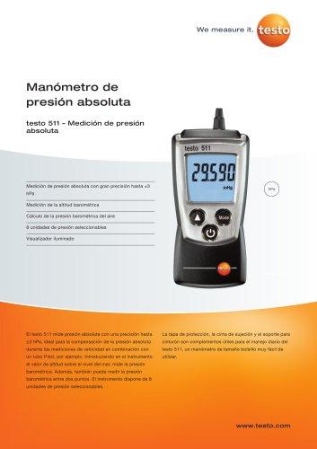 Manómetro de presión absoluta - teto 511