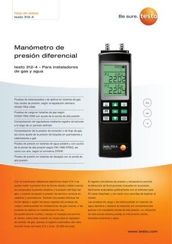 Manómetro de  presión diferencial testo 312-4