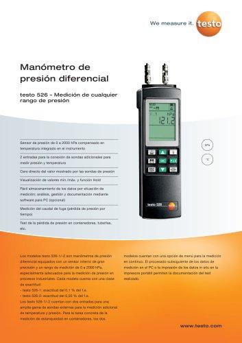Manómetro de presión diferencial - testo 526